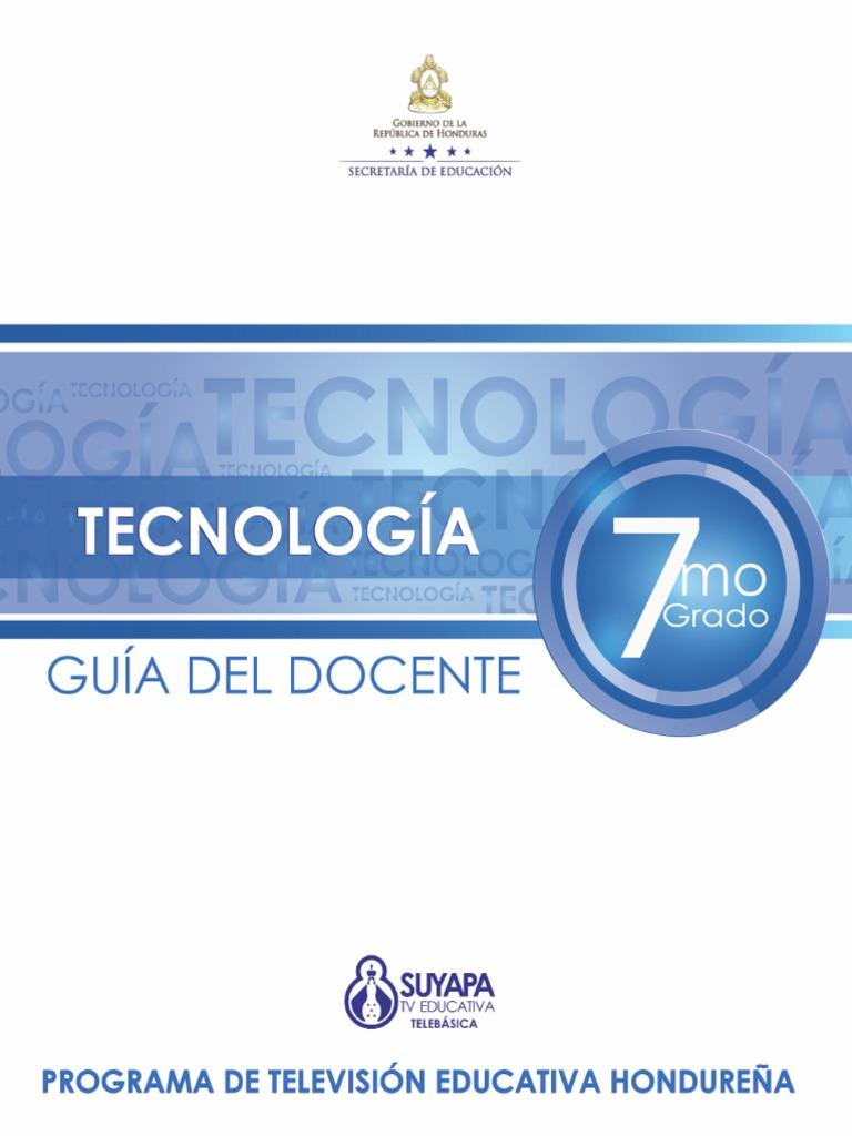 7grado Tecnologia GUIA DEL DOCENTE 5a62732fc413
