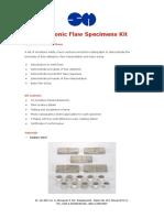Ultrasonic Flaw Specimens Kit