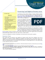Indonesian Legal Brief - Preserving Land Rights in Forestry Areas