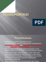 8. Metode Transportasi