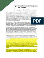 Proceso y Agencia de Formación Temprana del Estado ,Flannery 1999 (Traduccion)