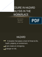 Procedure in Hazard Analysis in the Workplace