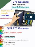 QNT 275 Academic Success/snaptutorial
