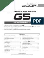 Zoom G5 Op Manual
