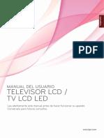 Manual Televisor LG LCD LED