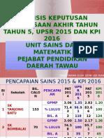 KPI SAINS 2016