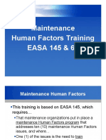 EASA 145 & 66 Human factor Training