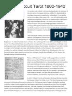 English Occult Tarot 1880-1940 by Tarot Heritage