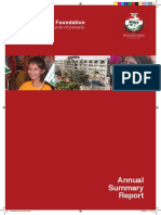 Annual Summary Report 2010 - Minhaj Welfare Foundation