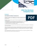 KBC Autolease Tax Brochure Company Cars
