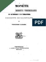 Le monete dei possedimenti Veneziani di Oltremare e di Terraferma / descr. ed illustrate da Vincenzo Lazari