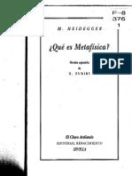 Heidegger - Que Es Metafisica (traducción de Zubiri)