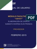 Manual USHAY - Oferta - Subasta Inversa Electronica Servicios - Proveedores