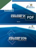 Arancel 2016