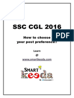 All the SSC CGL 2016 aspirants!| How to choose your post preference?