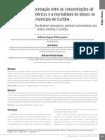 Avaliação Da Correlação Entre as Concentrações de Poluentes Atmosféricos e a Mortalidade de Idosos No Município de Curitiba