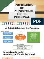 Planificación de Administración de Personal