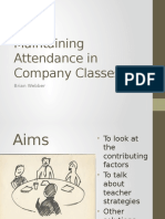 Maintaining Attendance in Company Classes2