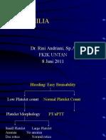 Hemophilia Powerpoint-Kuliah FKIK UNTAN