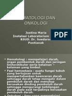 Hematologi Dan Onkologi Pendahuluan