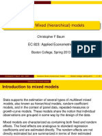 Multilevel models slides