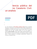 La Audiencia Pública Del VIII Pleno Casatorio Civil