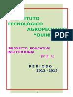 Proyecto Educativo Institucional 2012 - 2015 i.t.a.q.