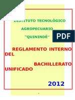 Reglamento Interno Itaq - Bach. Unif. 2012