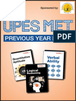 UPES-MET Previous Year Paper