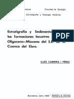 Estratigrafia y Sedimentologia de Secuencias Lacustres
