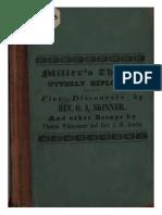 Miller's Theory Utterly Exploded by Rev. Otis A. Skinner, 1840