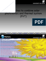 combining solar PV and thermal systems