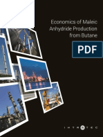 Economics of Maleic Anhydride Production from Butane