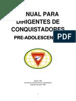 Manual Para Dirigentes de Conquistadores Pre-Adolescentes