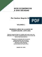 ENSAYOS ECONÓMICOS DE DOS DÉCADAS