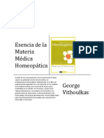 Esencia de La Materia Medica Vithoulkas