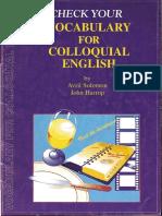 Check Your Vocabulary for Colloquial English