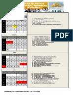 Calendário 2016-1 da Fac-Unicamps