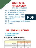 Módulo III Formulación