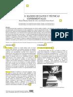 Práctica 0. Manejo de Datos y Tecnicas Experimentales