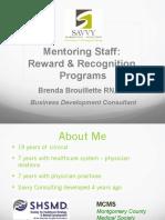 Mentoring Staff Reward Recognition Ppt