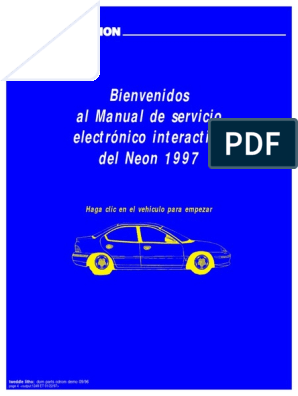 Manual Chrysler Neon 1997 | Lubricante | Ascensor on
