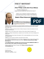Arrest Warrant for Price William