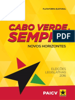 Plataforma do PAICV - Legislativas 2016