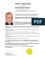 Arrest Warrant for Adolpho Nicolas Pachon