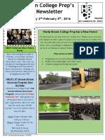 Newsletter - 2.2.2016