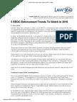 5 EEOC Enforcement Trends to Watch in 2016 - Law360