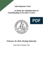 2 26 16 NV Guardianship Agenda and Meeting Materials
