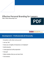 Effective Personal Branding for Lawyers SABA's Winter Mentorship Event