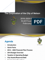2016 Financial Plan Presentation Feb 18